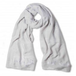 Katie Loxton Heart of Gold Scarf Scarf Pale Grey *