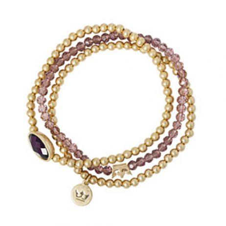 Sence Copenhagen Explorer Bracelet Purple Aventurine Worn Gold