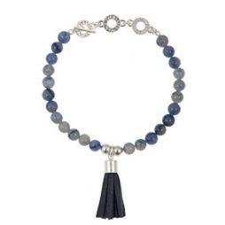Sence Copenhagen Be Boho Blue Aventurine and Tassel Bracelet p158