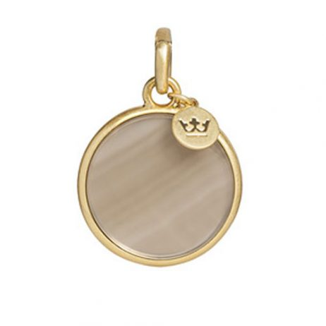 Sence Copenhagen Charm Grey Agate Worn Gold - EOL