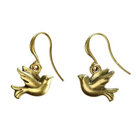 Hultquist Jewellery Gold Bird Earrings