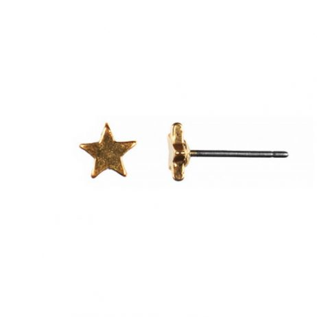 Hultquist Jewellery Gold Star Earrings