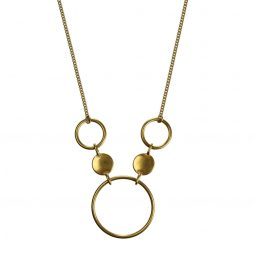 Hultquist Jewellery Gold Coins and Circles Urban Luxe Necklace