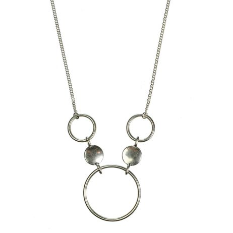 Hultquist Jewellery Silver Coins and Circles Urban Luxe Necklace
