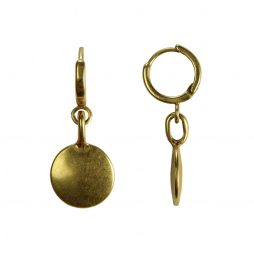 Hultquist Jewellery Gold Coin Urban Luxe Earrings