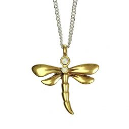 Hultquist Jewellery Dragonfly Bi Colour Necklace