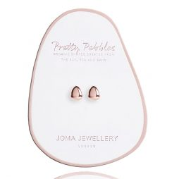 Joma Jewellery Pretty Pebbles Stud Earrings Rose Gold 2448