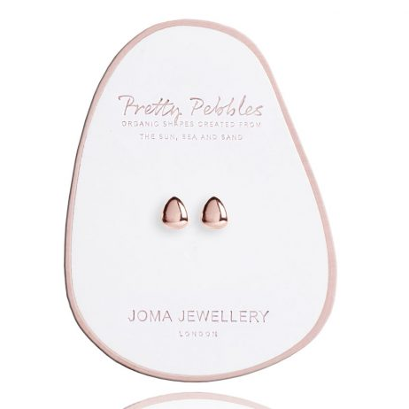 Joma Jewellery Pretty Pebbles Stud Earrings Rose Gold 2448