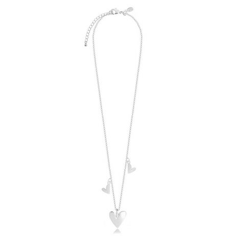 Joma Jewellery Aria Silver Necklace with 3 Puffed Heart Pendants 2575