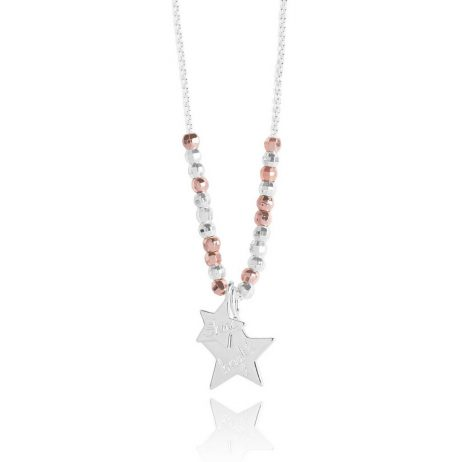 Joma Jewellery Caci Charms Shine Bright Stars Necklace Silver and Rose Gold 2613