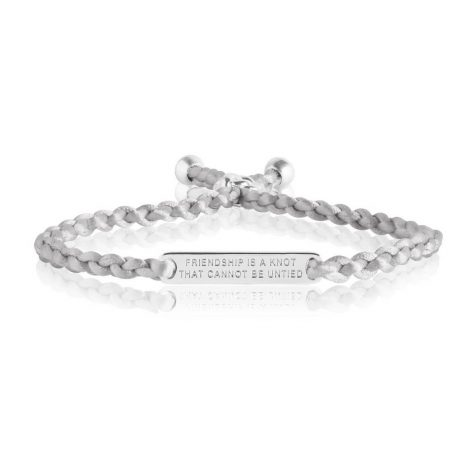 Joma Jewellery Friendship Knot Grey Thread Bracelet 2623