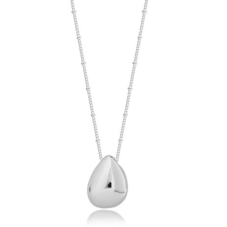 Joma Jewellery Pretty Pebbles Long Silver Necklace with Silver Large Pebble Pendant 2642