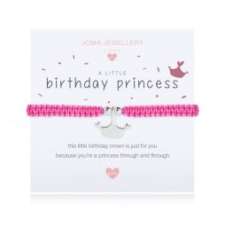 Joma Jewellery Childrens A Little Birthday Prinvess Silver Bracelet C411