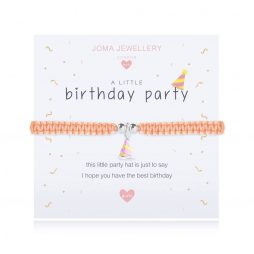 Joma Jewellery Childrens A Little Birthday Party Silver Bracelet C417