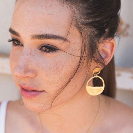 Danon Jewellery Inner Circle Two Piece Gold Earrings