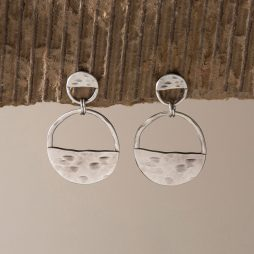 Danon Jewellery Inner Circle Two Piece Silver Earrings