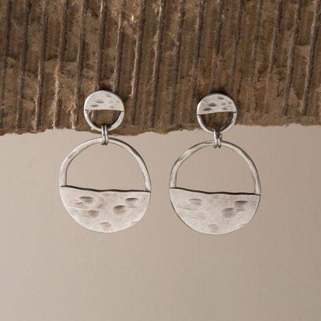 Danon Jewellery Inner Circle Two Piece Silver Earrings