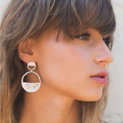 Danon Jewellery Inner Circle Two Piece Silver Earrings E2991S