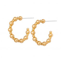 Sence Copenhagen Gold Ball Hoop Earrings