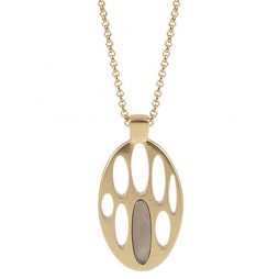 Sence Copenhagen Be Chic Necklace Grey Agate Worn Gold