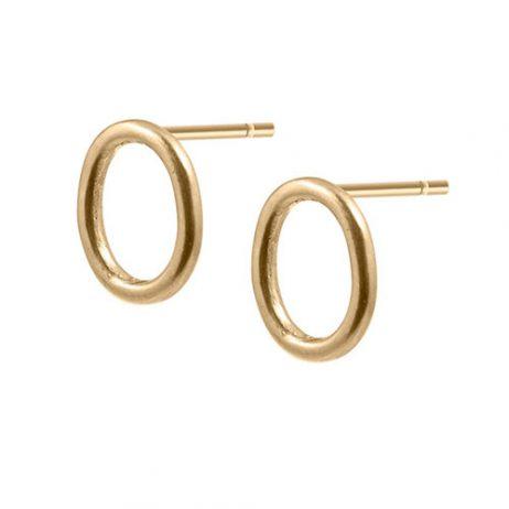 Sence Copenhagen Be Classy Oval Earstuds Worn Gold