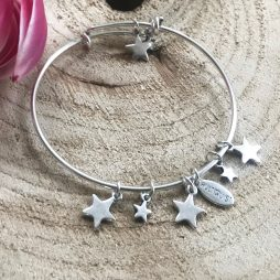 Hultquist Jewellery Silver Star Bangle