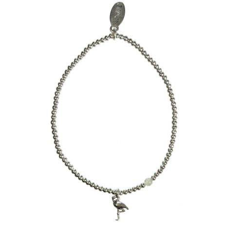 Hultquist Jewellery Flamingo Silver Ball Bracelet with Labadorite Bead