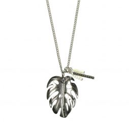 Hultquist Jewellery Silver Palm Leaf Necklace Tropical Paradise