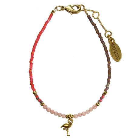 Hultquist Jewellery Flamingo Gold Bracelet with Japanese Coral