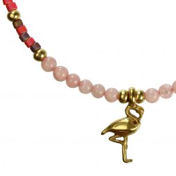 Hultquist Jewellery Flamingo Gold Bracelet with Japanese Coral 1369G