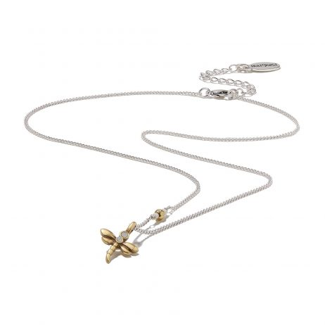 Hultquist Jewellery Dragonfly Mini Silver and Gold Necklace
