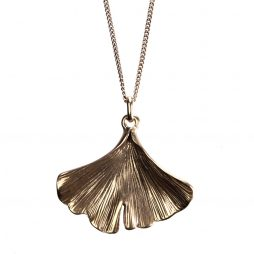 Hultquist Jewellery Rose Gold Ginkgo Leaf Pendant Necklace