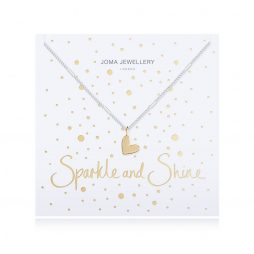 Joma Jewellery Sparkle and Shine Silver Necklace with Gold Heart Pendant 2518
