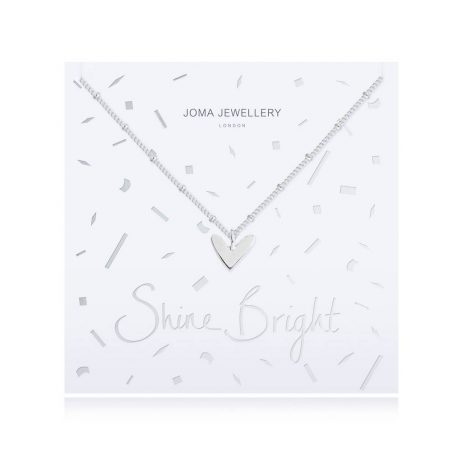 Joma Jewellery Shine Bright Silver Necklace with Silver Heart Pendant