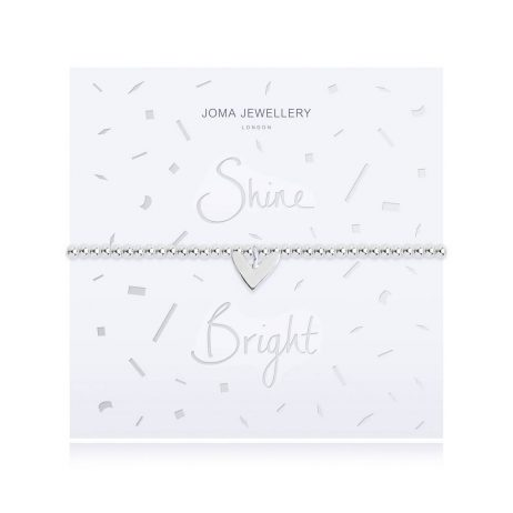 Joma Jewellery Shine Bright Silver Bracelet with Silver Heart Pendant 2520