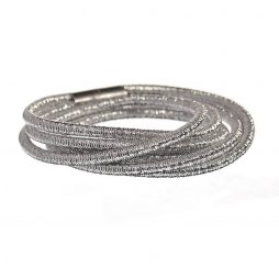 Hot Tomato Jewellery Cable Triple Wrap Silver Bracelet