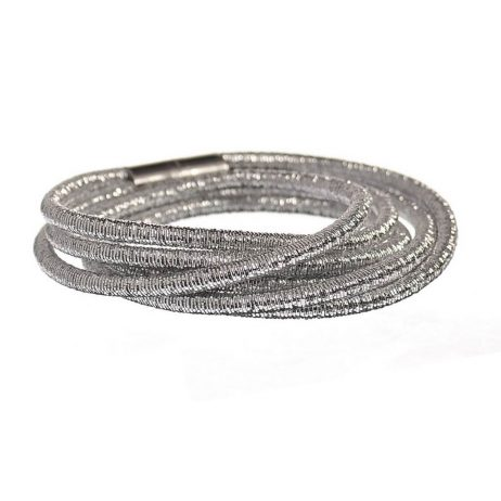 Hot Tomato Jewellery Cable Triple Wrap Silver Bracelet - eol