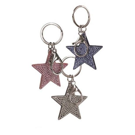 Hot Tomato Star Gazing Crystal Key Ring