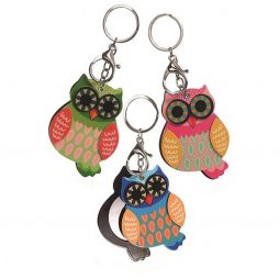 Hot Tomato Owl Key Ring with Secret Mirror