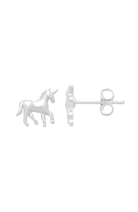 Estella Bartlett Unicorn Stud Earrings Silver Plated