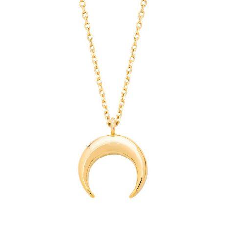 Estella Bartlett Mini Horn Necklace Gold Plated