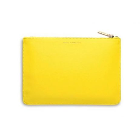 Estella Bartlett Yellow Medium Pouch Happy Thoughts