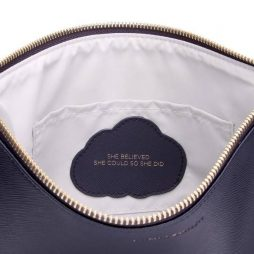 Estella Bartlett Navy Large Pouch She Believed She Could So She Did EBP2371