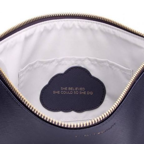Estella Bartlett Navy Large Pouch She Believed She Could So She Did