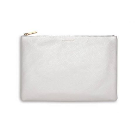 Estella Bartlett Silver Large Pouch There Is No Reason Not To Follow Your Heart