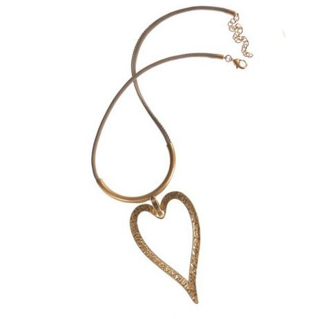 Hot Tomato Natural Gold Heart Necklace - EOL
