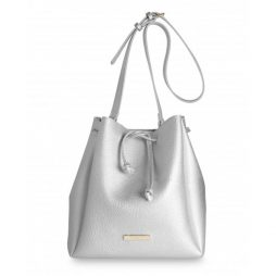 Katie Loxton Chloe Bucket Bag Metallic Silver