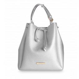 Katie Loxton Chloe Bucket Bag Metallic Silver KLB311