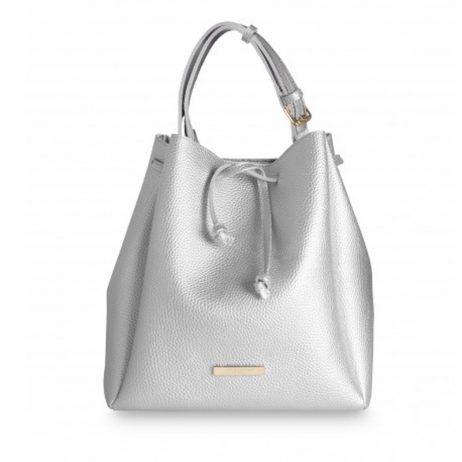 Katie Loxton Chloe Bucket Bag Metallic Silver
