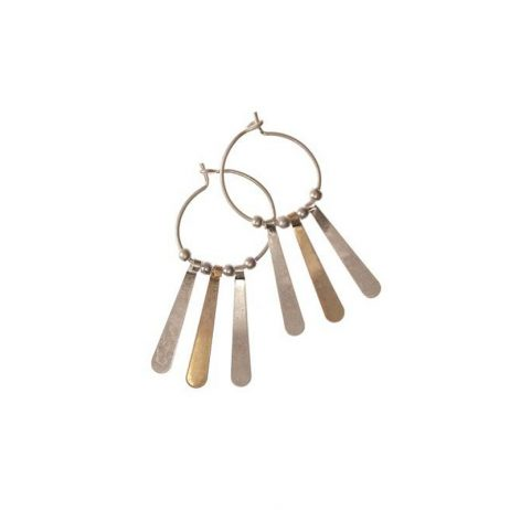 Hot Tomato Jewellery Gold and Silver Hoop Earrings